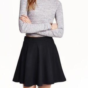 H&M Divided Black Skater Skirt